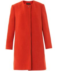 Sophie Hulme - Collarless Tailored Coat - Lyst