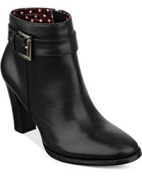 Tommy Hilfiger Vales Buckle Booties - Lyst