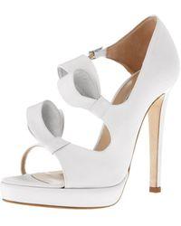 Oscar de la Renta Silk Lanabow Platform Sandal - Lyst