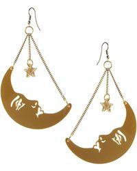 Tatty Devine - La Luna Moon Earrings - Lyst
