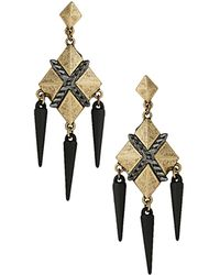 Topshop Pyramid Spike Earrings - Lyst