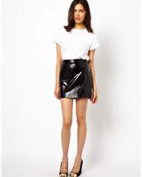 Urbancode - Patent Leather Mini Skirt - Lyst