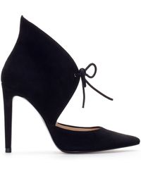 Zara Leather Ankle Boot Style Court Shoe black - Lyst