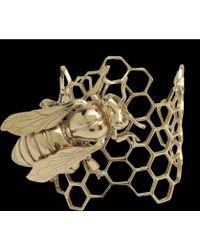 Bernard Delettrez - Bronze Honeycomb Cuff - Lyst