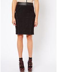 Darling | Pencil Skirt with Pu Trim | Lyst