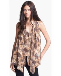 Elizabeth And James Grace Silk Blouse - Lyst