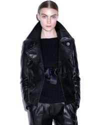 Eudon Choi - Zavid Black Leather Peacoat - Lyst
