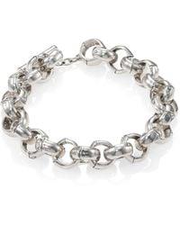 John Hardy Sterling Silver Link Bracelet silver - Lyst