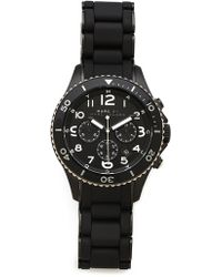Marc By Marc Jacobs - Rock Chronograph Watch with Silicone Strap - Lyst