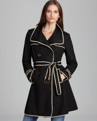 Adrianna Papell | Belted Trench with Contrast Binding | Lyst