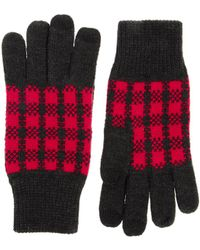 ASOS - Touch Screen Gloves with Buffalo Check - Lyst