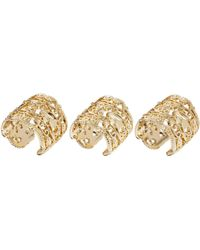 Asos Pack Of Three Filigree Band Rings - Lyst