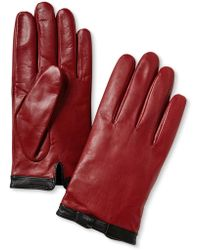 Banana Republic Leather Bow Glove Red - Lyst