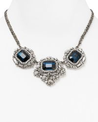 Cara Accessories Blue Stone Statement Necklace 16 - Lyst