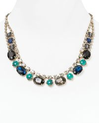 Cara Accessories Small Bib Necklace 19 blue - Lyst