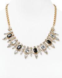 Cara Accessories Jet Flower Bib Necklace 18 gold - Lyst