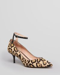 Enzo Angiolini - Pointed Toe Court Shoes Galata Ankle Strap Leopard Print - Lyst
