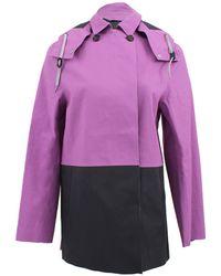 Hancock - Split Collar Short Raincoat - Lyst