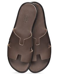 Hermes Izmir Leather Sandals - Lyst