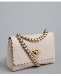 Mulberry Light Berry Cream Goat Leather Cecily with Flower Shoulder Bag - Lyst