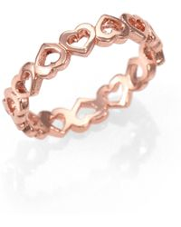 Bing Bang Eternity Heart Band Ring - Lyst