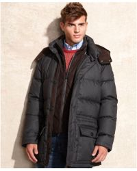 Vince Camuto - Removable Hood Flannel Anorak - Lyst