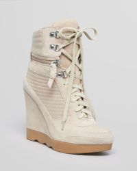 French Connection - Lace Up High Top Trainers Maata - Lyst