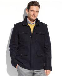 Tommy Hilfiger Melton Wool Military 4-Pocket Coat - Lyst