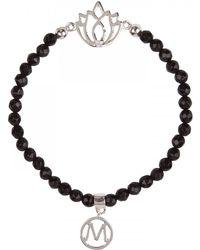 Melissa Odabash - Silverplated Onyx Bracelet - Lyst