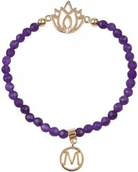 Melissa Odabash - Amethyst and Golddipped Bracelet - Lyst