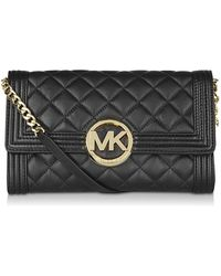 MICHAEL Michael Kors Quilted Fulton Bombe Clutch - Lyst