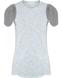 O'2nd - Scalloped Cotton Blend Tshirt - Lyst
