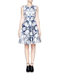 Prabal Gurung Floral Print Flared Dress - Lyst