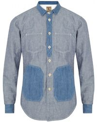 PRPS | Striped Chambray Shirt | Lyst