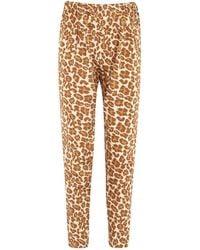 Tucker - Leopard Print Stretch Silk Trousers - Lyst