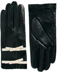 Sam Ubhi - Alice Hannah Frill Bow Leather Gloves - Lyst