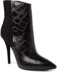 B Brian Atwood - Djuna Suede and Mockcroc Ankle Boots - Lyst