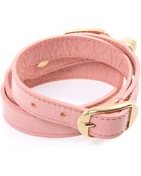 Balenciaga Triplewrap Giant Stud Bracelet - Lyst