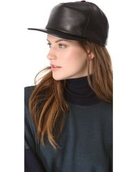 Cast Of Vices - Leather Baseball Cap in Black - Lyst