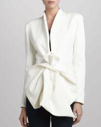 Donna Karan New York Crepe Bowwaist Jacket - Lyst