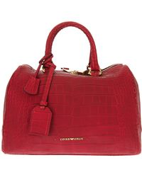 Emporio Armani Calf Leather Bowling Bag - Lyst