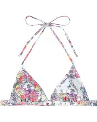 Erdem - India Printed Bikini Top - Lyst