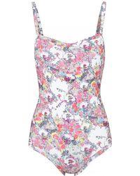 Erdem - Miranda Printed Swimsuit - Lyst