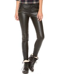 Free People Vegan Leather Skinny Pants - Lyst