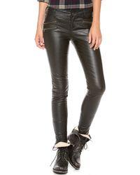 Free People Vegan Leather Skinny Pants - Lyst