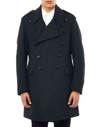 McQ by Alexander McQueen Doublebreasted Peacoat - Lyst