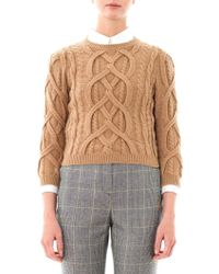 No 21 Engineeredknit Wool Sweater - Lyst