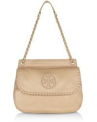 Tory Burch - Tb Marion Saddle Bag Leather Blk - Lyst