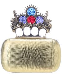 Alexander McQueen Stained Glass Knuckle Box Clutch - Lyst