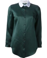 Carven Buttoned Blouse - Lyst